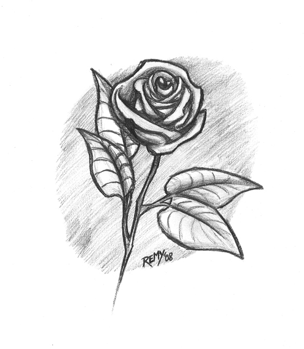 Rosas Para Dibujar Tattoo Pictures to Pin on Pinterest